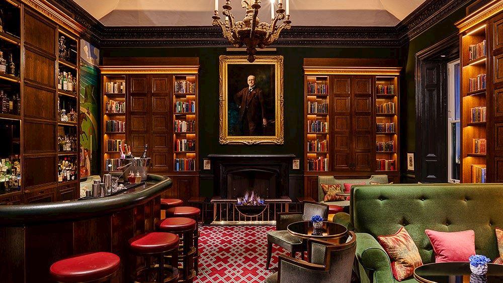 Fireplace at 1824 Bar
