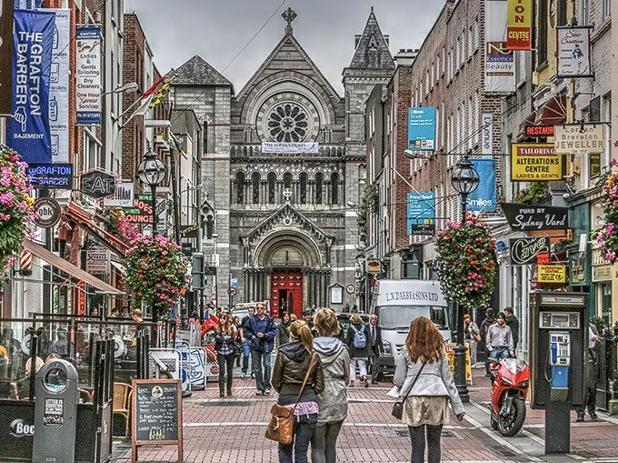Grafton Street shopping in Dublin